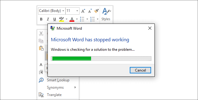 microsoft-word-not-responding-when-trying-to-print